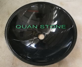 Natural Nero Countertop Sink Basin Marquina Marble Sink Cuci Black Bowl Round Basins