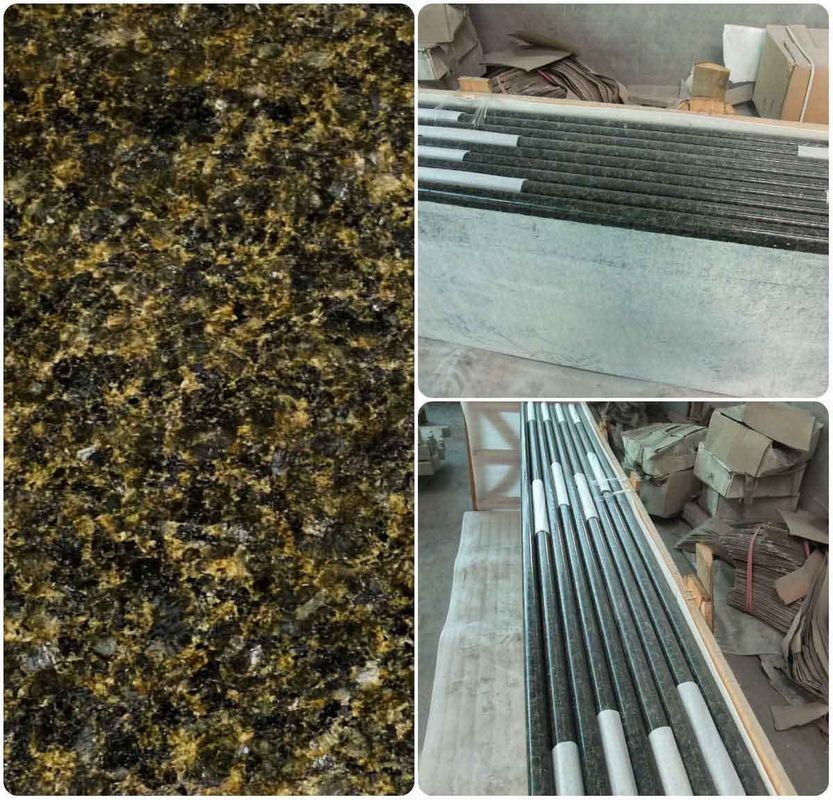 Green Solid Granite Worktops 250MPA Compressive Strength SGS Standard