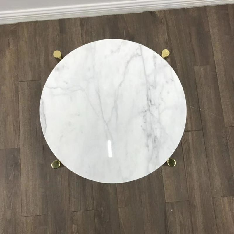 White Marble Stone Countertops Modern Center Coffee Table Tops For Living Room