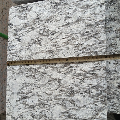 Cina Flamed Spray White Granite Tiles / Slabs untuk Tangga Tangga / Lantai Ubin